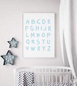 Scandi Cute Grey Raccoon Unisex Animal Nursery Kids Play Room Wall Art Print