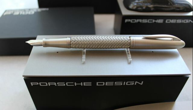 Steel Medium Point 988873 New Box Porsche Design TecFlex P3110 Fountain Pen