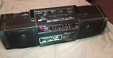 Vintage 80's Sharp WQ-T222 Boombox Double Tape - fully functional and nice