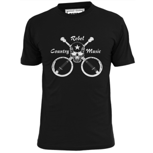 Homme Rebel Country Music T SHIRT NELSON Cash Williams Twitty Jennings