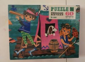 Puzzle-La-Mer-Fernand-Nathan-70-039-s-Cavahel-Vintage