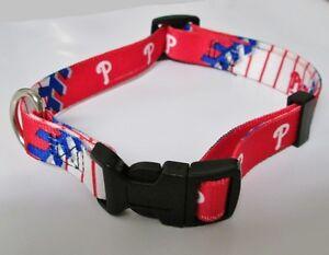 PHILADELPHIA-PHILLIES-MLB-BASEBALL-TEAM-ADJUSTABLE-SOFT-NYLON-DOG-COLLAR