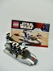 Lego Star Wars # 7668 REBEL SCOUT SPEEDER 100% Complete w / manual  No box