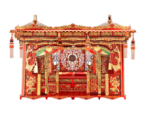 Chinese Marital Bed Assemble Toys Decor 3D Creative Metal Building Blocks Gift
