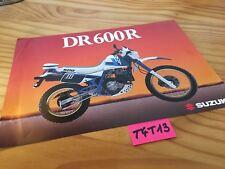 Suzuki DR600R Djebel DR600 R DR 600 prospectus moto brochure publicité 600DR