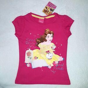 DISNEY-t-shirt-BELLE-princesse-3-4-5-6-ans-la-belle-et-la-bete-rose-NEUF