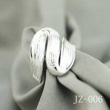 Wholesale 925 Sterling Silver Plated Women Fashion Wide Face Rings SIZE Open 041
