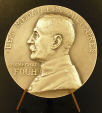 Médaille argent Maréchal Foch à Henri Guillevin 50 mm Sc Prud'homme silver Medal