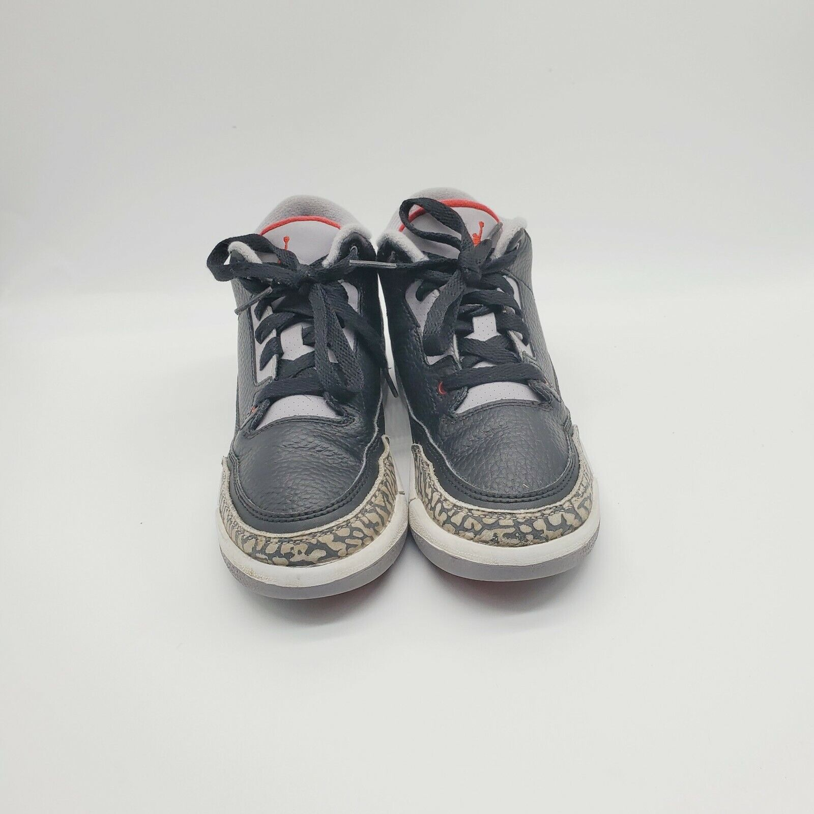 Nike Air Jordan Retro 3 Black Cement Kids Size 12c 429487-021 Boys Shoes