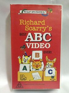 RICHARD-SCARRY-039-S-BEST-ABC-VIDEO-EVER-RARE-VHS-VIDEO