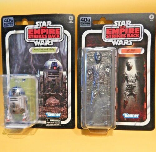 Vintage Style Star Wars ESB 40th 6 inch  R2D2 /& Carbonite Block Sealed on Card