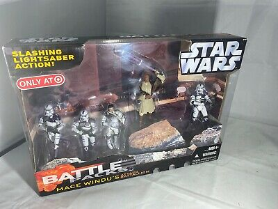 Mace Windu/'s Attack Battallion Battle Packs STAR WARS Revenge of the Sith MIB