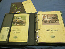 1998 LAND ROVER DISCOVERY  OWNERS MANUAL SET W/ CASE