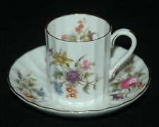 ROYAL WORCESTER DEMI DEMITASSE CUP & SAUCER ROANOKE WHITE PATTERN Z2827