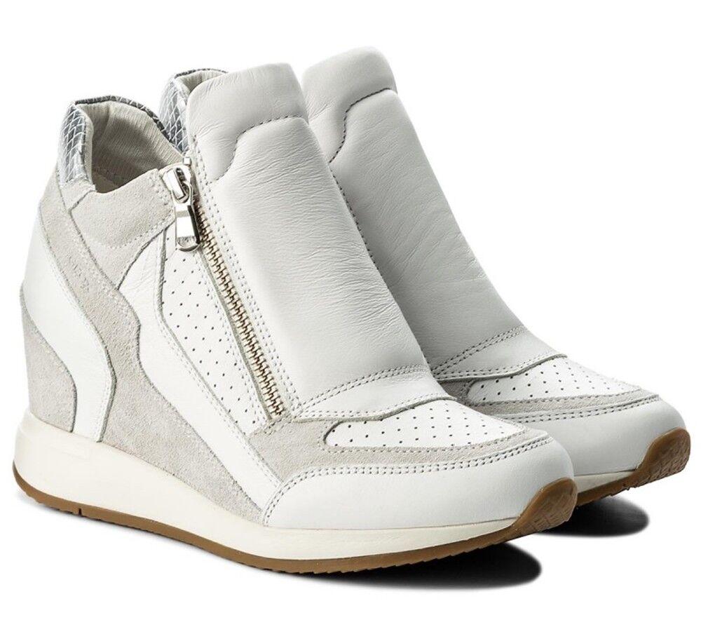 GEOX NYDAME NYDAME NYDAME D620QA zapatos zapatillas mujer piel ante tejido casual cuña  Envío 100% gratuito