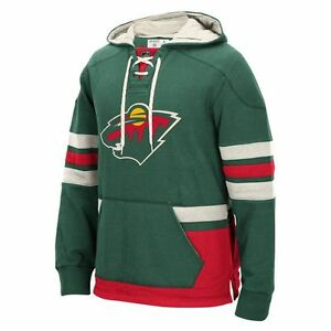 Image is loading Minnesota-Wild-NHL-Pullover-Hoodie-Green-Sweatshirt-CCM- 4e88959fcba