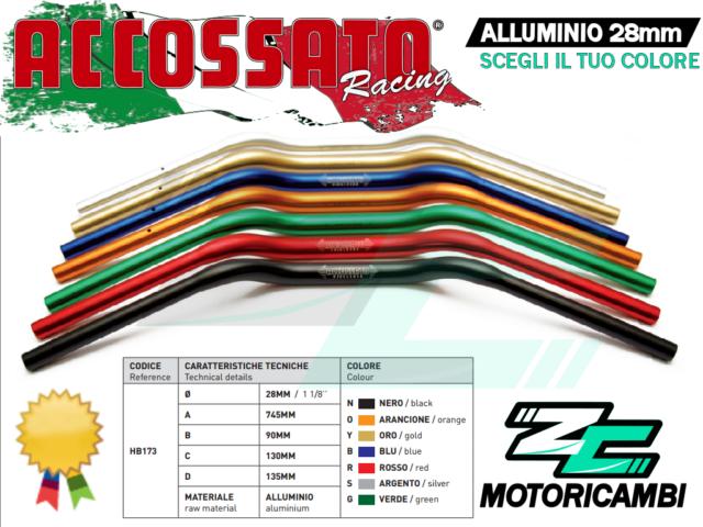 MANUBRIO APRILIA RSV 1000 TUONO 2003-2004 28mm /22mm ALLUMINIO ACCOSSATO RACING