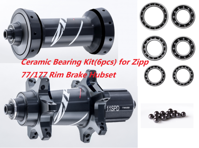 ZIPP 202 Firecrest Carbon Clincher Wheel Ceramic Bearing-77//177 hub-HSC Ceramics
