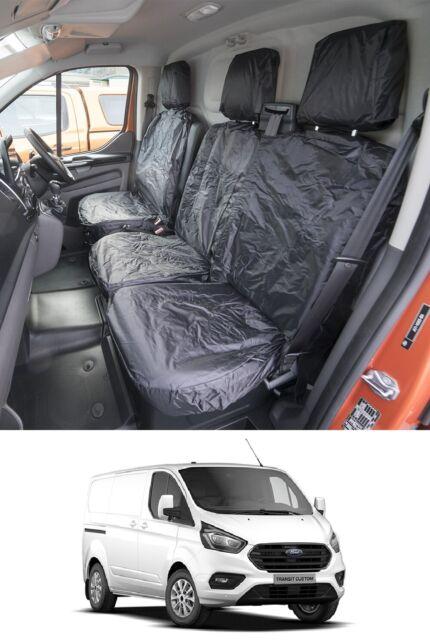 CITROEN BERLINGO VAN TAILORED /& WATERPROOF FRONT SEAT COVERS 2008-18  BLACK 105