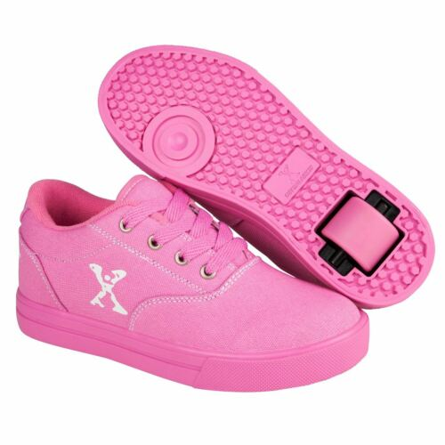 Sidewalk Sport Kids Girls Canvas Skate Shoes Roller Lace Up Padded Ankle Collar