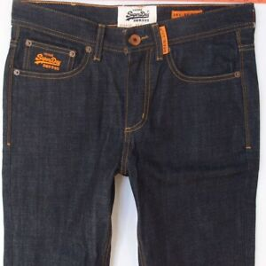Details about Mens SuperDry CORPORAL SLIM Stretch Copper Black Denim Jeans W32 L30
