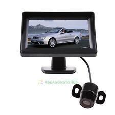 4.3'' TFT LCD Monitor + Mini Wireless Car Parking Reverse Back Up Camera CMOS