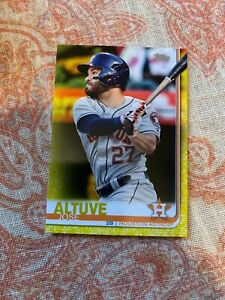 Jose-Altuve-2019-Topps-Series-1-YELLOW-PARALLEL-Card-178-ASTROS-WALGREENS