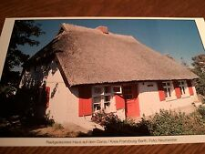 Bild: 18x12,6cm - Reetgedecktes Haus auf dem Darss / Kreis Franzburg-Barth