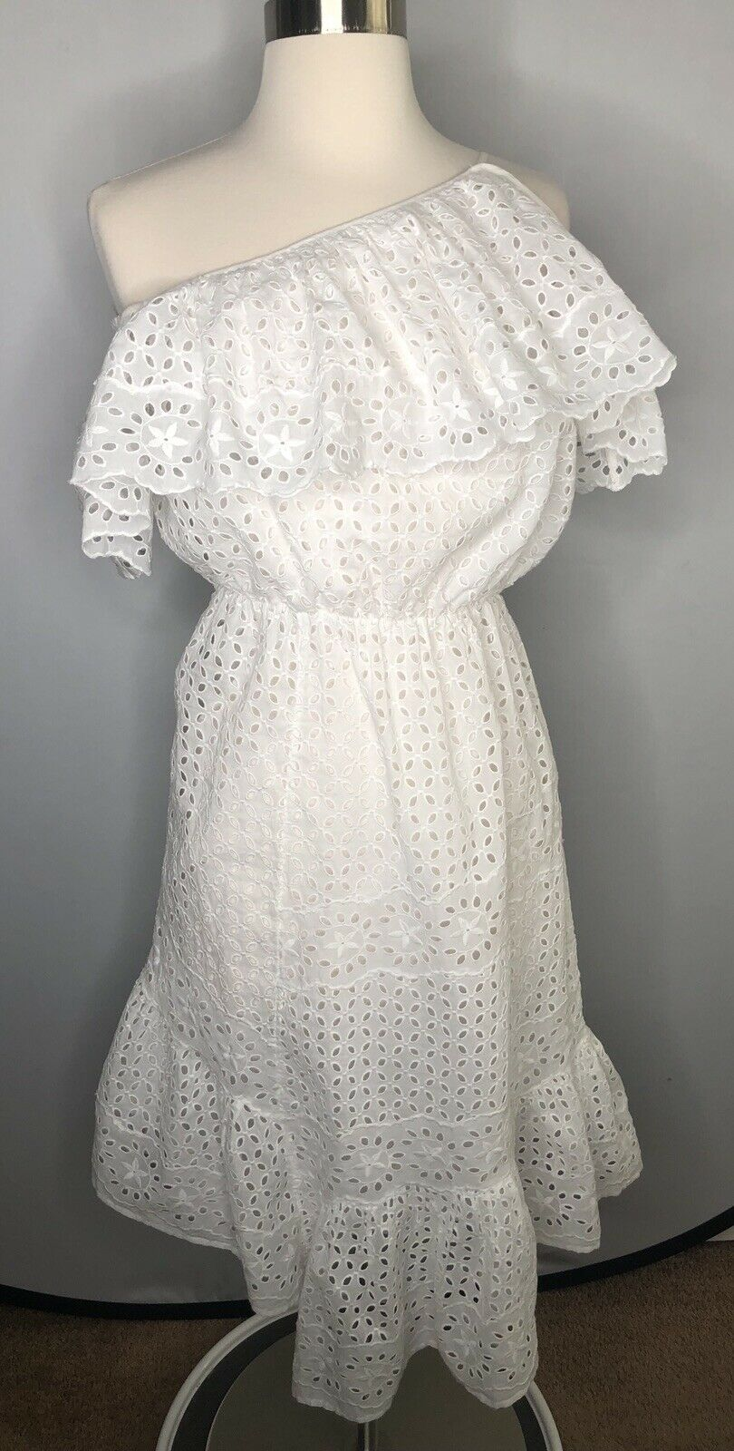 Joie damen's Weiß Corynn Eyelet Lace dress XS S NWT