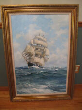 Original CHARLES VICKERY oil on canvas: THE INVINCIBLE / framed - ONE OF A KIND