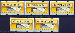 Automatenmarken Atm 5 Vs2 Bund Euro 2002 Briefkasten ** SorgfäLtig AusgewäHlte Materialien