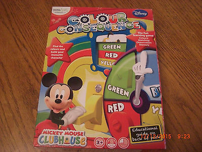 Disney Mickey Mouse Colour Consequence Learning Game Brand New