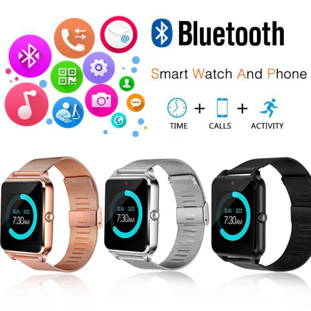 hot sale online b21df 75258 New Bluetooth Smart Watch Phone Z60 Smartwatch Stainless Steel For IOS  Android