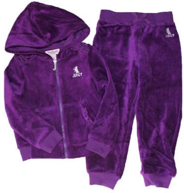 72314ad1a Juicy Couture Girls 2 Piece Purple Jog Suit Sweater Sweat Pants Set ...