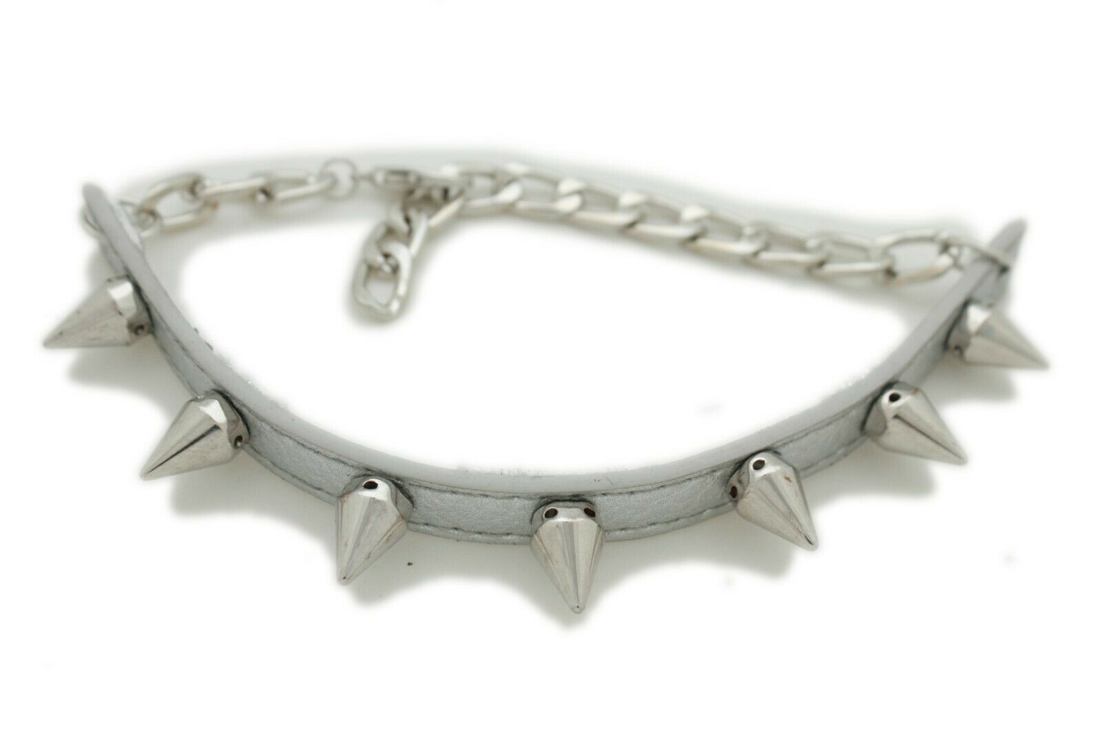 Women Boot Bracelet Silver Metal Chain Strap Spikes Band Shoe Charm Rock Teens