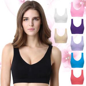 4dae5f3828 Women Plus Size Sports Yoga Bra Workout Tank Top Stretch Seamless ...