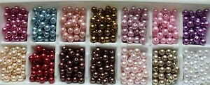 200pcs-x-8mm-Faux-Pearl-Beads-In-29-Colours-for-Craft-Jewellery-Making-UK-Seller
