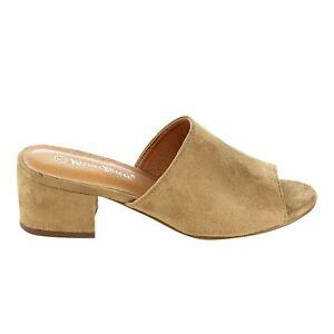 Women-039-s-Slip-On-Chunky-Block-Heel-Mule-Sandals-Nature-Breeze-Glenn-01-By-NatureB