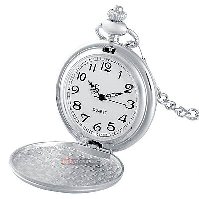 Vintage Silver Cccp Russia Pocket Watch Quartz Necklace Chain Pendant* Crease-Resistance Jewelry & Watches Watches, Parts & Accessories