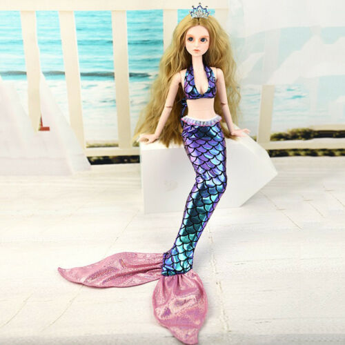Fashion Doll Mermaid Dress Skirt Party Gown for 1//3 BJD Doll Accessories