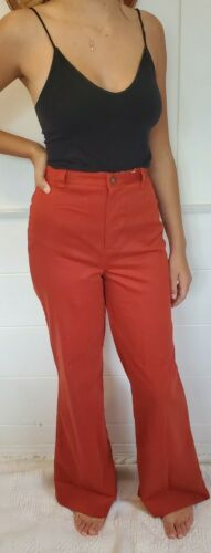 Vintage 70s Dittos High Waist Wide Leg Rust Color