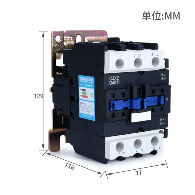 CJX2-2510 Coil 3 Poles 3P NO 35mm DIN Rail Mounting DIN Rail AC Contactor 110V