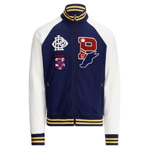 8f7f6e09fc Details about Mens Polo Ralph Lauren P Wings Cotton Patch Varsity Interlock  Track Jacket