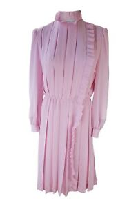 THE-WHITE-HOUSE-Vintage-Pink-Pleated-Dress-M