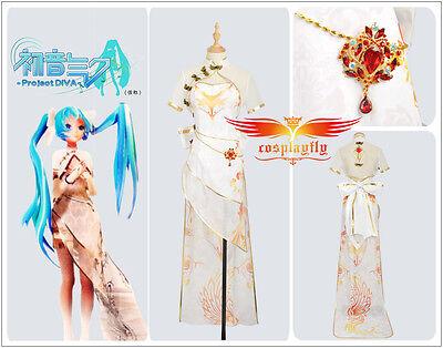 Vocaloid Hatsune Miku cosplay costumes High Low Asymmetric Canary cheongsam
