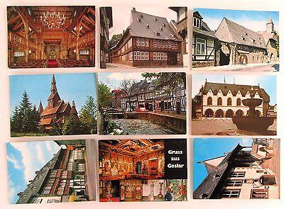 Suche Nach FlüGen 9x Goslar Postkarten Lot Ansichtskarten Gelaufen, Gestempelt Diverse Briefmarken Fortgeschrittene Technologie üBernehmen