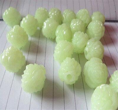 Free shipping Jewelry Making DIY 100 pcs 5x8mm Oval Luminous Glow Beads Crafts
