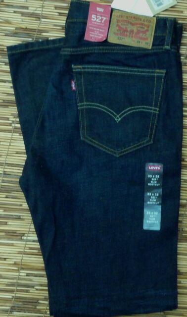 Levis 527 Jeans Mens Slim Boot Cut Dark Wash Size 33 X 32 Levi's