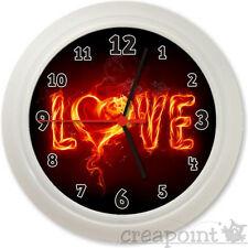 #089 Wanduhr  - LOVE  - Valentinstag-Geschenk Liebe Uhr