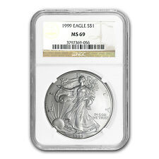 1999 Silver American Eagle Coin - MS-69 NGC